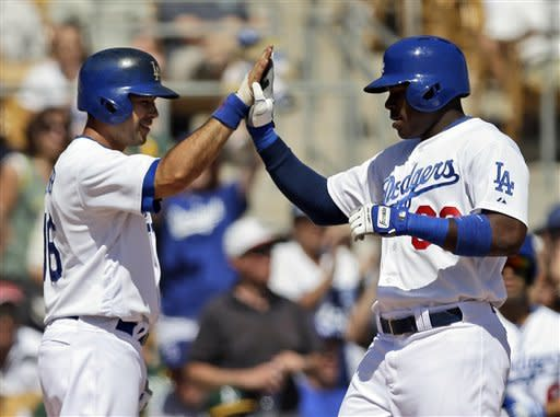 Puig has 4 hits for Dodgers in win
