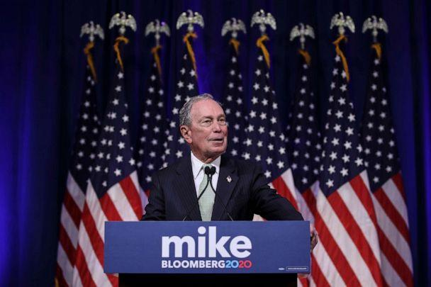 PHOTO: Newly announced Democratic presidential candidate, former New York Mayor Michael Bloomberg speaks at a press conference to discuss his presidential run on November 25, 2019 in Norfolk, Virginia. (Drew Angerer/Getty Images)