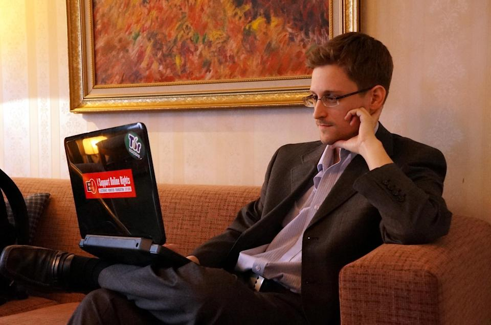 Edward Snowden in Moscow, December 2013. (Photo: Barton Gellman/Getty Images)