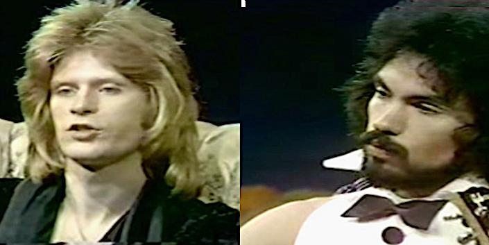 Daryl Hall and John Oates in the 1973 'She's Gone' music video. (Photo: YouTube)