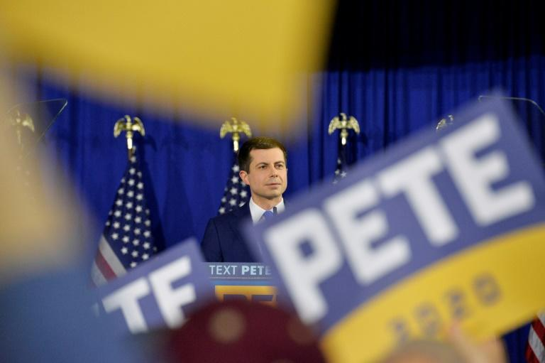 Former mayor of South Bend, Indiana, Pete Buttigieg is 40 years younger than Bernie Sanders (AFP Photo/Joseph Prezioso)