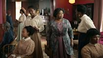 """<p>Based on the biography<strong> On Her Own Ground </strong>by A'Lelia Bundles, this series follows the true story of Madam C.J. Walker, a black hair care entrepreneur who became the first African American self-made millionaire. Octavia Spencer plays the titular Walker, with other cast members including Tiffany Haddish, Blair Underwood, Garrett Morris, and Bill Bellamy.</p> <p><a href=""""http://www.netflix.com/title/80202462"""" class=""""link rapid-noclick-resp"""" rel=""""nofollow noopener"""" target=""""_blank"""" data-ylk=""""slk:Watch Self Made: Inspired by the Life of Madam C.J. Walker on Netflix now"""">Watch <strong>Self Made: Inspired by the Life of Madam C.J. Walker</strong> on Netflix now</a>.</p>"""