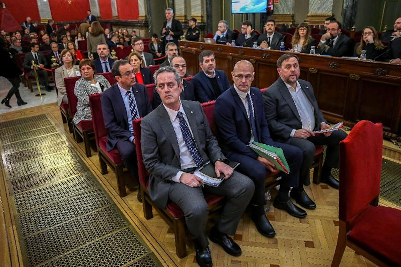 Catalan separatist leaders have been on trial in Madrid for four months (AFP Photo/Emilio Naranjo)