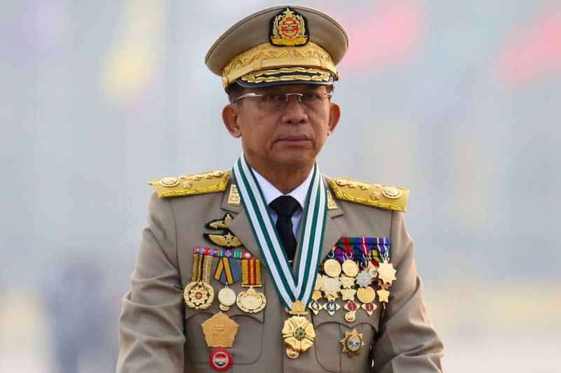 FILE PHOTO: Myanmar celebrates 76th anniversary of the founding of its national army