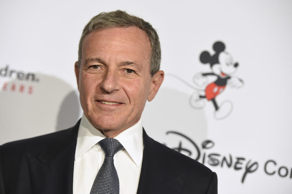 """Disney CEO Robert Iger arrives at the Save the Children """"Centennial Celebration: Once in a Lifetime"""" event on Wednesday, Oct. 2, 2019, at The Beverly Hilton Hotel in Beverly Hills, Calif. (Photo by Jordan Strauss/Invision/AP)"""