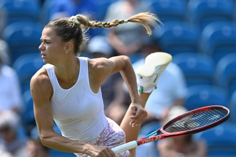 Surprise win - Italy's Camila Giorgi knocked out top-seed Aryna Sabalenka in the quarter-finals of the WTA Eastbourne tournament on Thursday