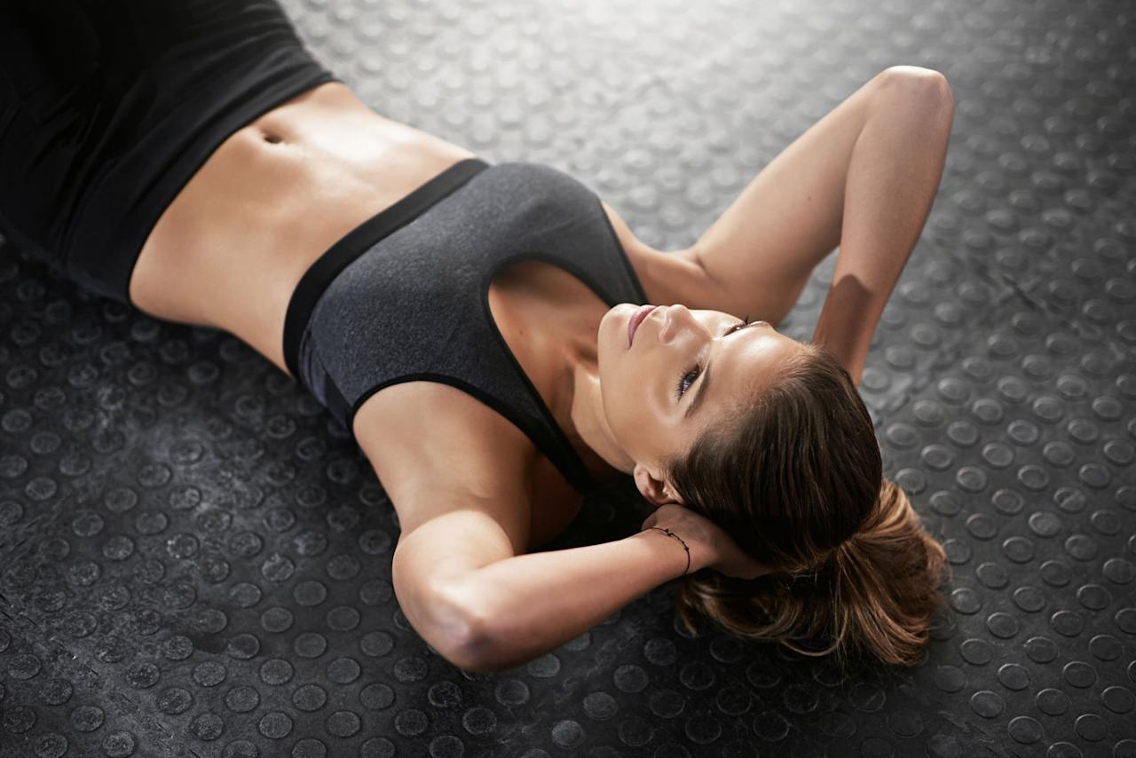 """<p>Many women want to spot reduce fat from their belly specifically, but exercise physiologist and NASM-certified personal trainer, Krissi Williford told POPSUGAR, that <a href=""""https://www.popsugar.com/fitness/What-Spot-Reduction-45037356"""" class=""""ga-track"""" data-ga-category=""""Related"""" data-ga-label=""""https://www.popsugar.com/fitness/What-Spot-Reduction-45037356"""" data-ga-action=""""In-Line Links"""">spot reduction isn't possible</a>. You can't do a hundred crunches every day and expect your six-pack to show. """"Your best bet is to burn fat all over your body,"""" she said. """"The leaner you get, the less fat you will have on your abdominal area.""""</p> <p>Krissi recommended that the best way to lose belly fat is to """"follow a program for overall fat burning, which includes a diet of whole foods with a total calorie intake that is in a deficit for you, and muscle-building exercise (or resistance-based exercise)."""" </p> <p>With a combination of healthy eating and exercise, both registered dietitian Leslie Langevin, MS, author of <a href=""""https://www.anti-inflammatorykitchen.com/"""" target=""""_blank"""" class=""""ga-track"""" data-ga-category=""""Related"""" data-ga-label=""""https://www.anti-inflammatorykitchen.com/"""" data-ga-action=""""In-Line Links""""><strong>The Anti-Inflammatory Kitchen Cookbook</strong></a> and ACE-certfied trainer and weight-loss health coach <a href=""""https://radicalstrength.ca/"""" target=""""_blank"""" class=""""ga-track"""" data-ga-category=""""Related"""" data-ga-label=""""https://radicalstrength.ca/"""" data-ga-action=""""In-Line Links"""">Rachel MacPherson</a> agree that you need to lose weight slowly in order to be successful at maintaining it. Aim for one to two pounds lost each week.</p> <p>Keep reading to learn how to eat and exercise to <a href=""""https://www.popsugar.com/fitness/How-Do-I-Lower-My-Body-Fat-Percentage-44714537"""" class=""""ga-track"""" data-ga-category=""""Related"""" data-ga-label=""""https://www.popsugar.com/fitness/How-Do-I-Lower-My-Body-Fat-Percentage-44714537"""" data-ga-action=""""In-Line Links"""">reduce your overall b"""