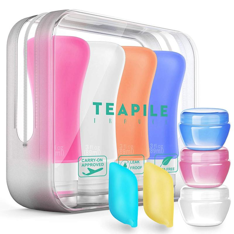 Teapile Travel TSA Approved Travel Bottles and Containers (9-pack). (Photo: Amazon)