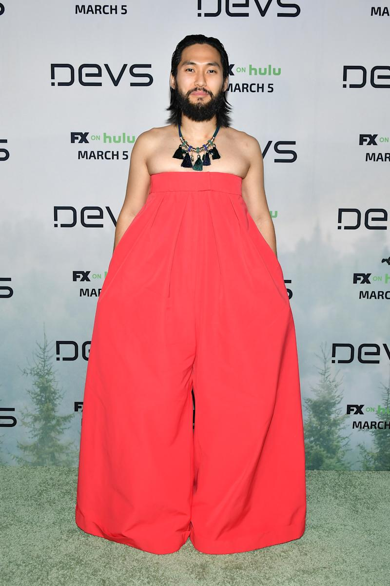 "HOLLYWOOD, CALIFORNIA - MARCH 02: Jin Ha attends the premiere of FX's ""Devs""at ArcLight Cinemas on March 02, 2020 in Hollywood, California. (Photo by Amy Sussman/Getty Images)"
