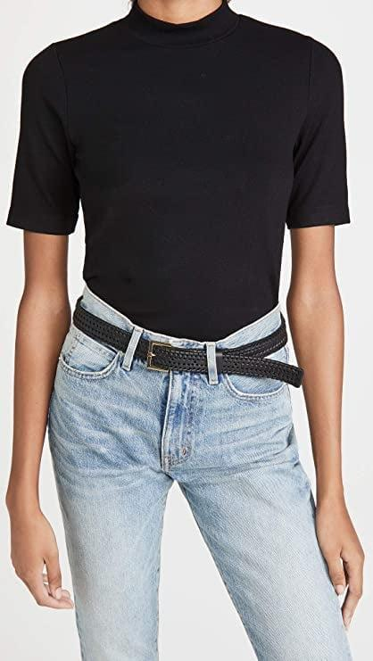 <p>This classic <span>Club Monaco Women's Mock Neck Tee</span> ($90) can be dressed up or down.</p>