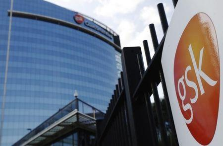 The GlaxoSmithKline building is pictured in Hounslow, west London