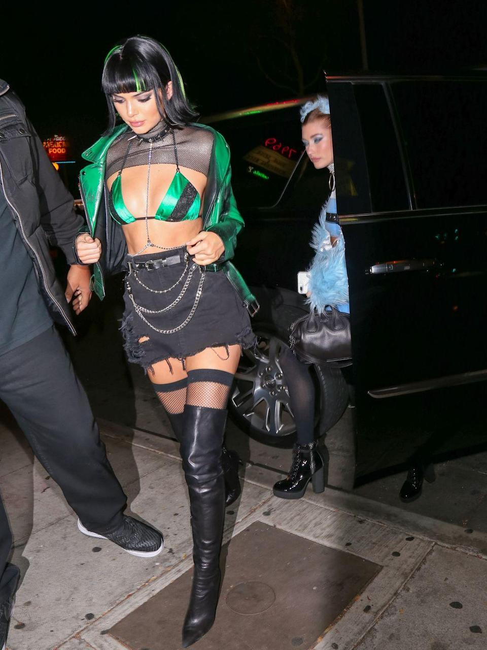 <p>The model became one third of the powerpuff girls for Halloween in 2017 (Is that Hailey Baldwin we spy as another of the co-hort too?)</p>