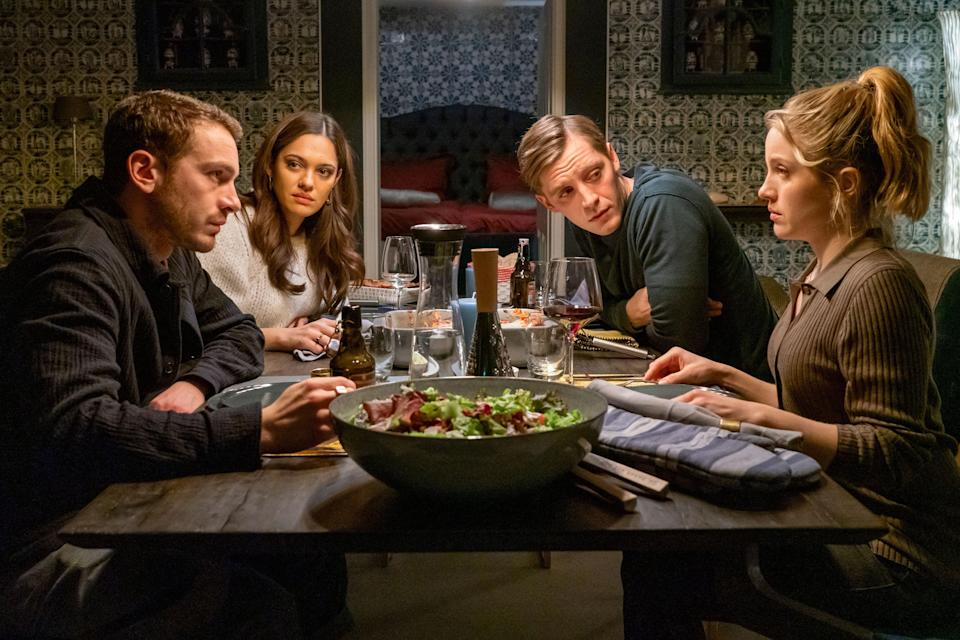 """<strong><em>The Four of Us</em></strong><br><br>Perfect for a mindless Sunday afternoon, this comedy film follows two couples who meet up again after a four-week partner swap. Naturally, it's not going to be smooth sailing – after all, what happens when new love eclipses the old? The couples are forced to reevaluate their feelings after what they want evolves. <br><br>Available 15th October<span class=""""copyright"""">Photo Courtesy of Netflix.</span>"""