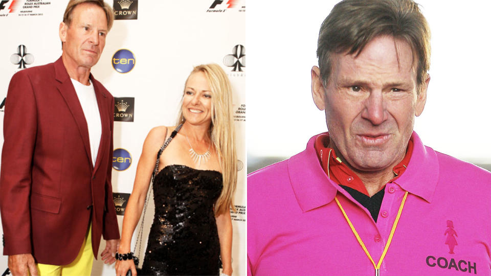 Sam Newman, pictured here with wife Amanda Brown before her tragic death.