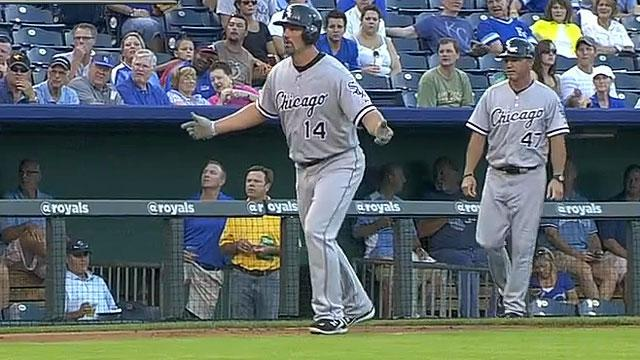 Ball disappears during White Sox-Royals game
