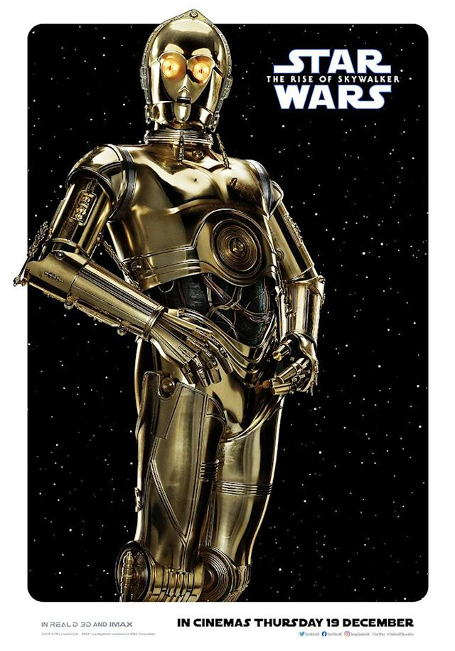 Anthony Daniels is back as everyone's favourite protocol droid. (Disney)
