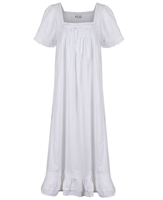 "<br> <br> <strong>The 1 For U</strong> 100% Cotton Short Sleeve Nightgown, $, available at <a href=""https://amzn.to/2XffLrS"" rel=""nofollow noopener"" target=""_blank"" data-ylk=""slk:Amazon"" class=""link rapid-noclick-resp"">Amazon</a>"