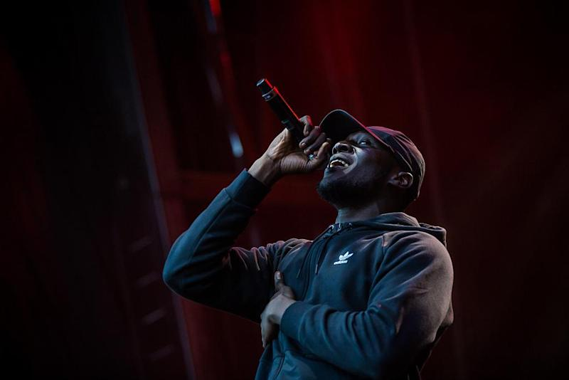 Stormzy was stopped by police under suspicion of trying to burgle what turned out to be his own home: Supplied