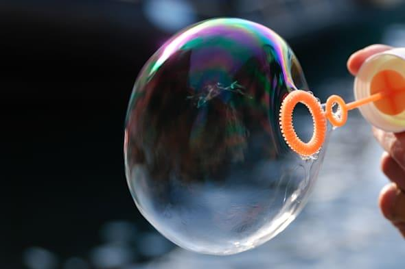 bubble with reflections of...