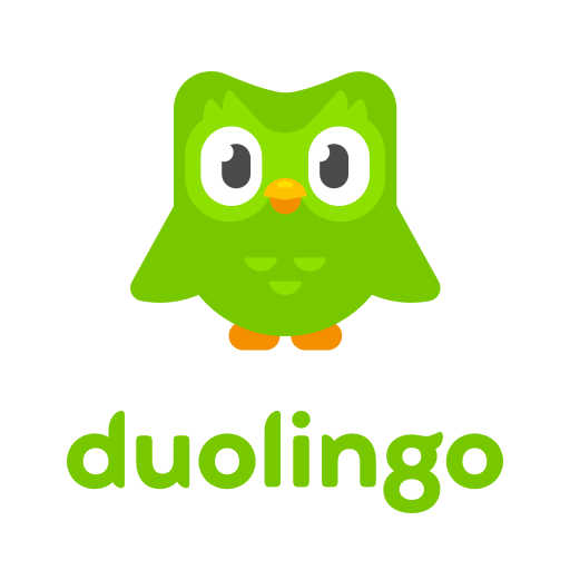 """A green owl is above the text """"duolingo"""""""