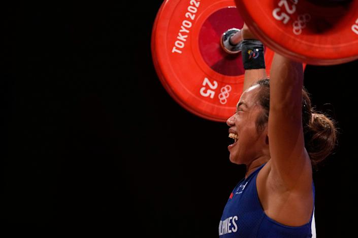 Tokyo Olympics Weightlifting Women (Copyright 2021 The Associated Press. All rights reserved)
