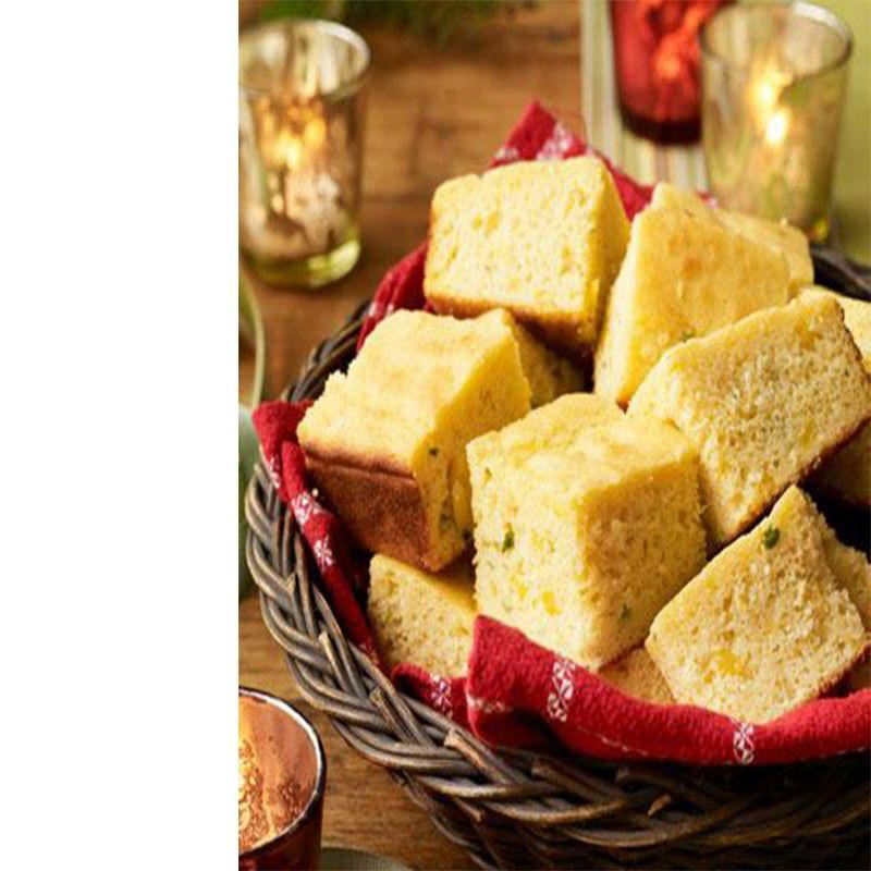 "<p>Add some texture to this classic by incorporating frozen corn into the batter before baking. You can even make this ahead of time and freeze it, so when guests come over you can simply defrost and serve. </p><p><em><a href=""https://www.womansday.com/food-recipes/food-drinks/recipes/a27689/double-cornbread-recipe/"" target=""_blank"">Get the Double Cornbread recipe.</a></em><em></em> </p>"