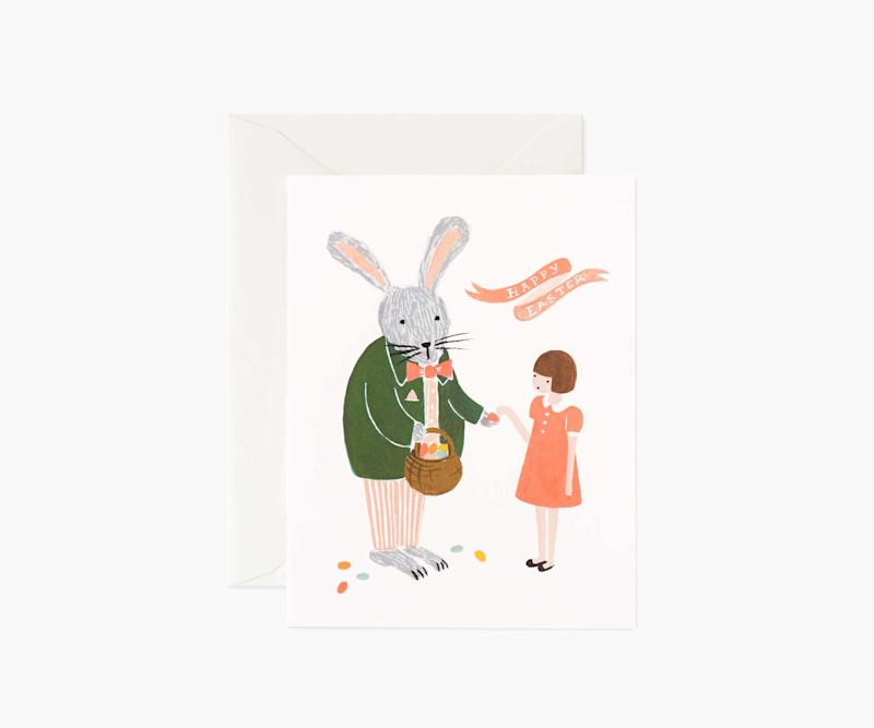 Festive Bunny Easter Card. Image via Rifle Paper Co.