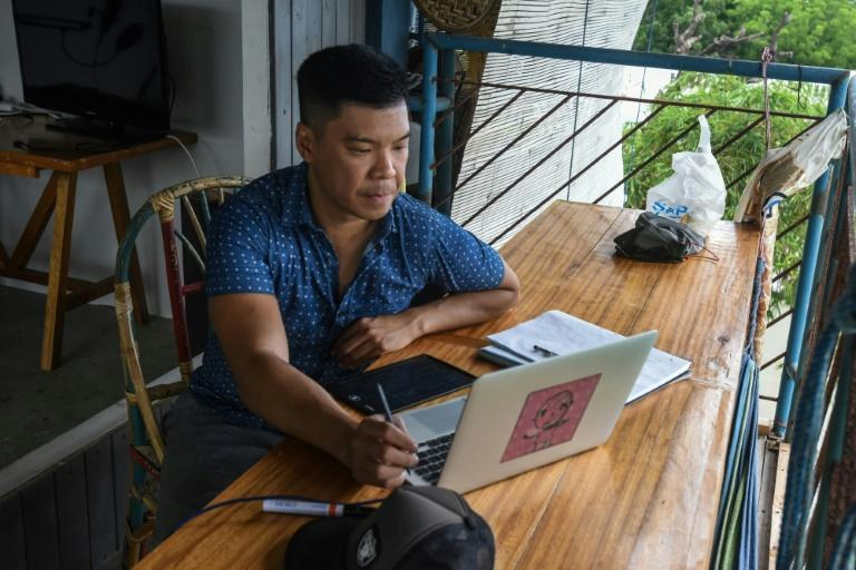 Carlo Almendral left his cramped Manila apartment for the beaches of San Juan nine months ago and says he has no plans to return to the Philippine capital