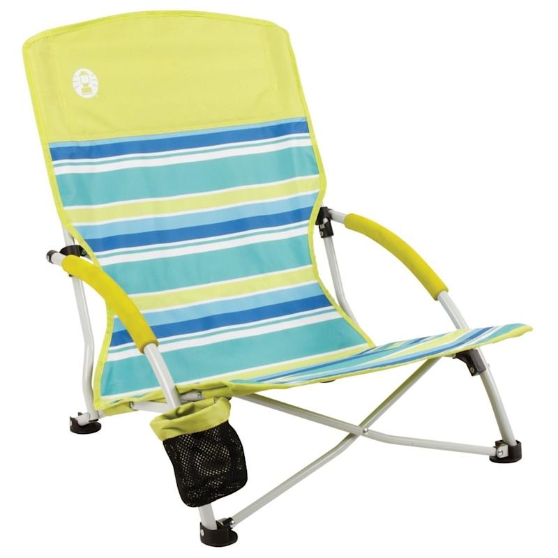 "Get it this one from Coleman <a href=""https://www.amazon.com/Coleman-Utopia-Breeze-Beach-Sling/dp/B00S57IQ6K/ref=sr_1_4?ie=UTF8&qid=1520954038&sr=8-4&keywords=folding+beach+chair"" target=""_blank"">here</a>."