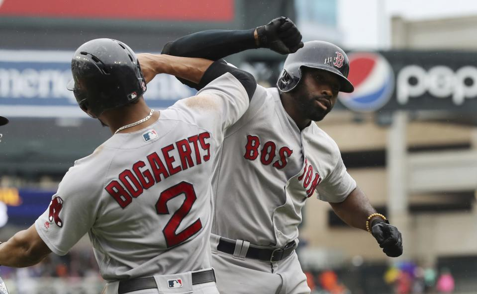 Despite the best record in baseball, scouts and executives believe the Boston Red Sox are only the second best team in the AL at the moment. (AP)
