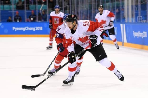 Maxim Noreau (56) won a bronze medal with Team Canada at the Pyeongchang Olympics in 2018.