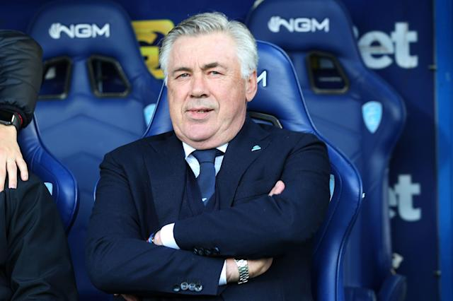 Carlo Ancelotti's Napoli are second in Serie A- 20 points behind first placed Juventus