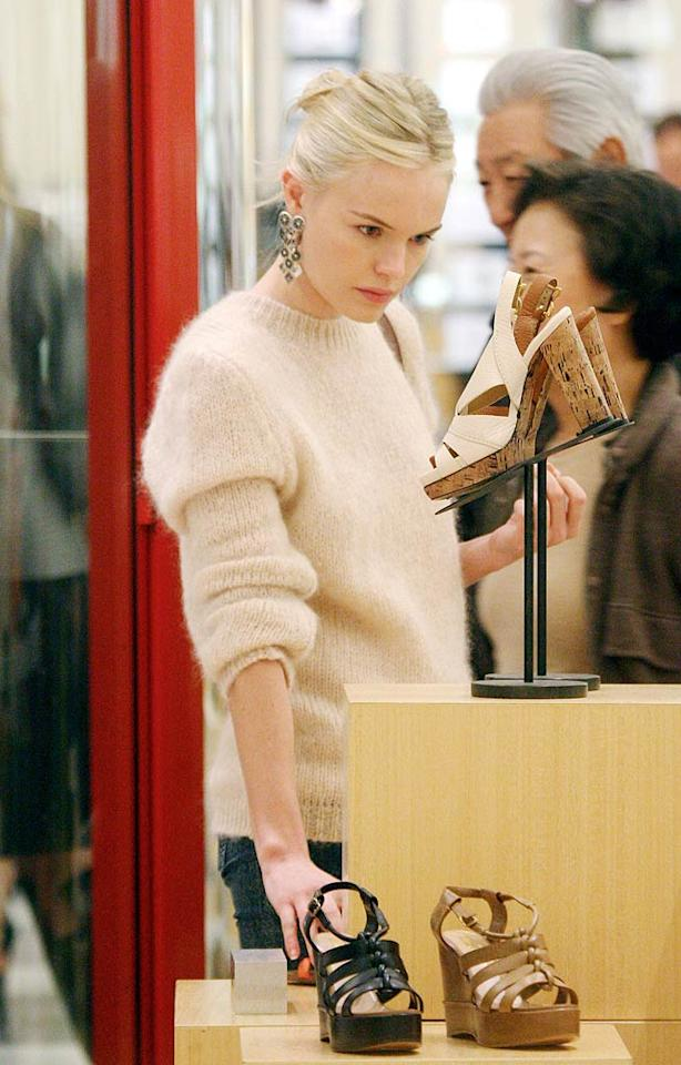 "Kate Bosworth was also spotted browsing the beautiful shoes at Barneys. Blanco-Jesse/<a href=""http://www.x17online.com"" target=""new"">X17 Online</a> - December 22, 2010"