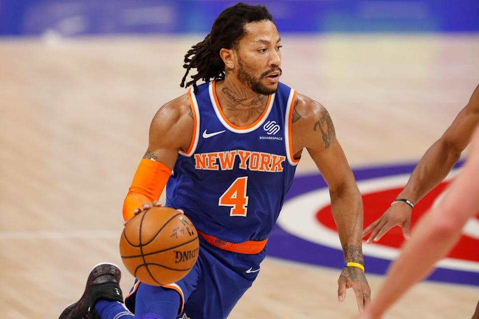 Derrick Rose with the Knicks.
