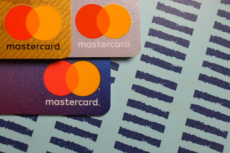 An illustrative image of Mastercard credit cards. On Sunday, January 3, 2021, in Dublin, Ireland. (Photo by Artur Widak/NurPhoto via Getty Images)