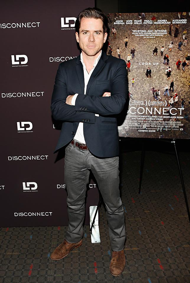 "NEW YORK, NY - APRIL 08:  Actor Christian Campbell attends the ""Disconnect"" New York Special Screening at SVA Theater on April 8, 2013 in New York City.  (Photo by Cindy Ord/Getty Images)"