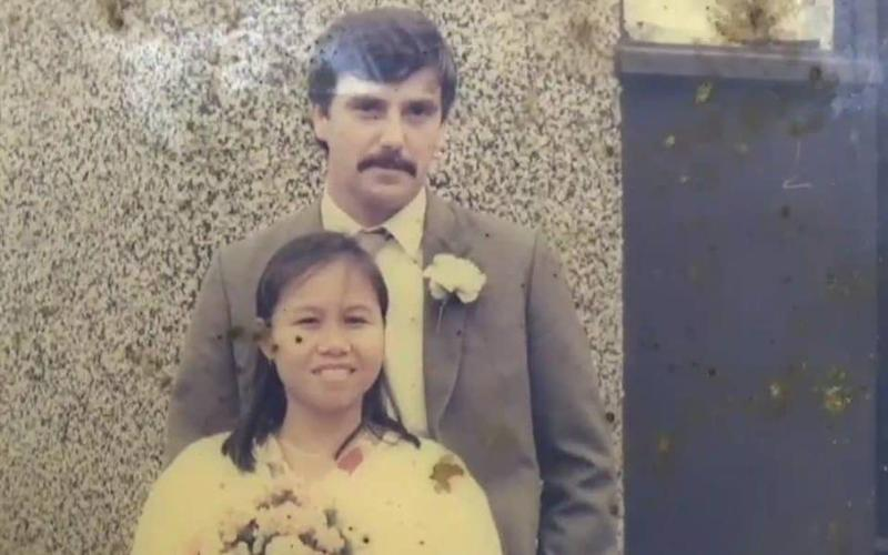 Alan Hogg and his wife Nott on their wedding day - Viral Press