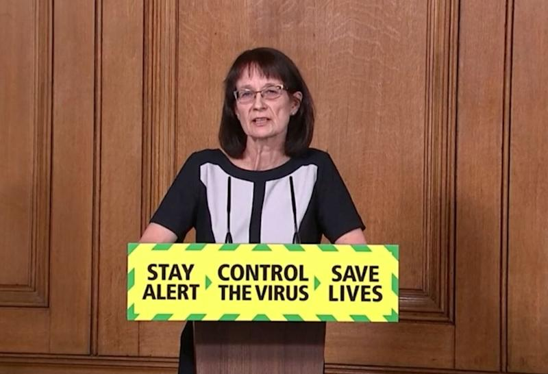 Deputy chief medical officer Dr Jenny Harries, during Sunday's media briefing in Downing Street, London, on coronavirus, (Photo: PA)