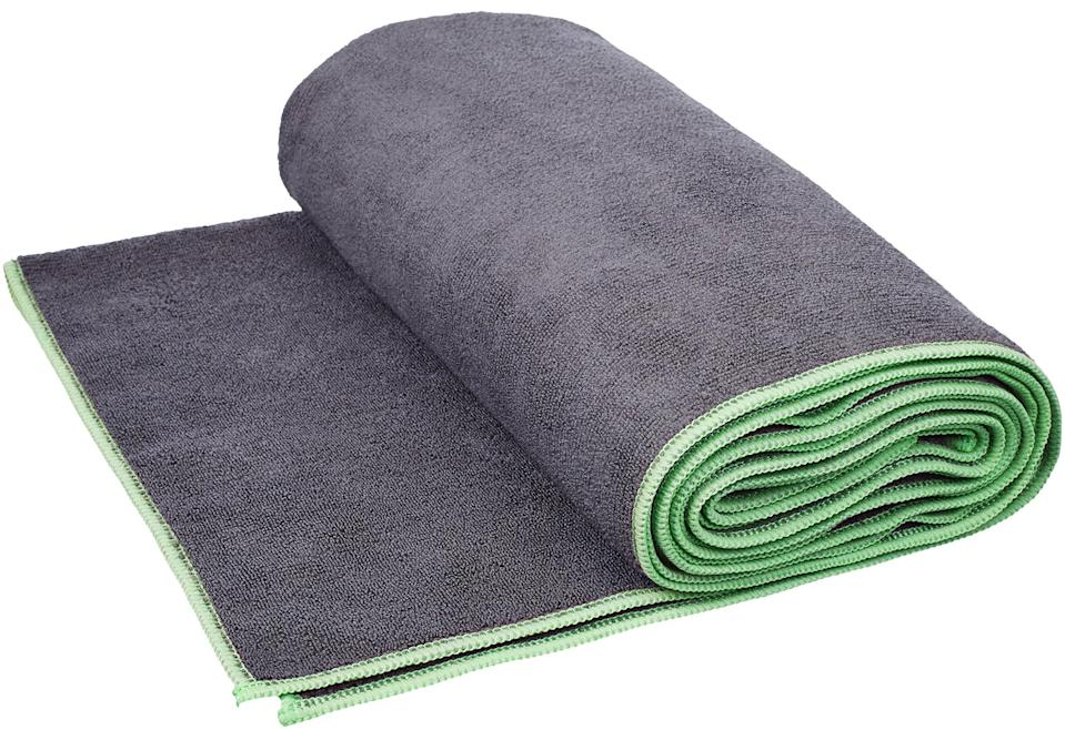 """<h3>Yoga Mat Towel</h3> <br>In addition to feeling extra soft and providing a layer of extra support, a <a href=""""https://www.refinery29.com/en-us/yoga-towel"""" rel=""""nofollow noopener"""" target=""""_blank"""" data-ylk=""""slk:yoga towel"""" class=""""link rapid-noclick-resp"""">yoga towel</a> can be rolled up to provide muscle massage when incorporated into hips and back stretches.<br><br><strong>AmazonBasics</strong> Yoga Exercise Mat Towel, $, available at <a href=""""https://amzn.to/2V6fnuL"""" rel=""""nofollow noopener"""" target=""""_blank"""" data-ylk=""""slk:Amazon"""" class=""""link rapid-noclick-resp"""">Amazon</a><br>"""