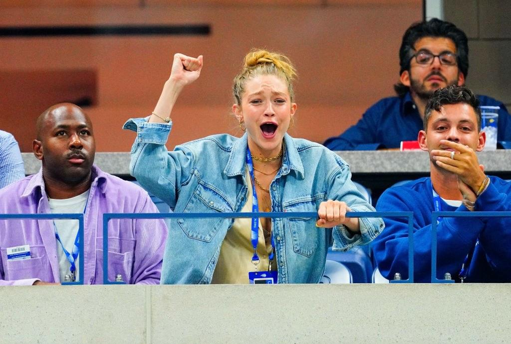 Gigi Hadid cheers on  Serena Williams at the 2019 US Open on August 26, 2019 in New York City. Photo courtesy of Getty Images.