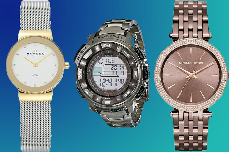 Brand name watches make the perfect eleventh-hour gift. (Photo: Amazon/Getty)