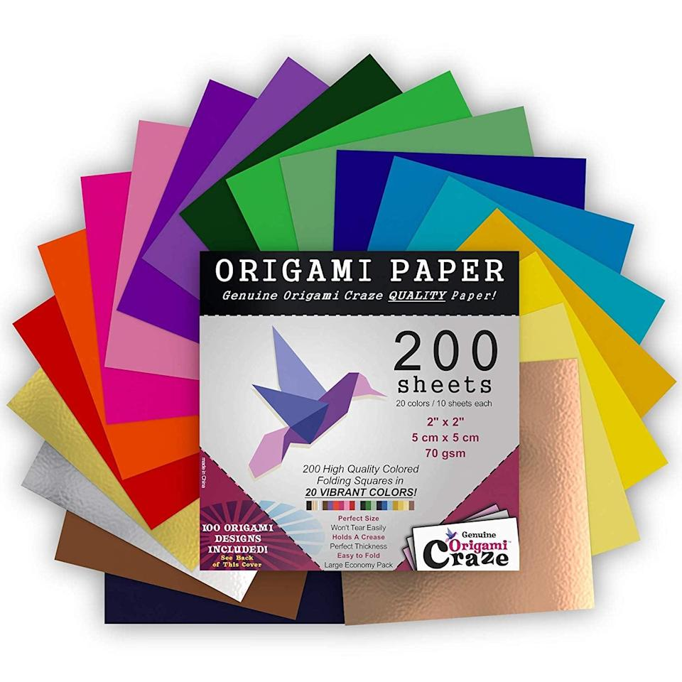 <p>Get this pack of <span>Mini Origami Paper </span> ($15) for the person who loves crafting.</p>