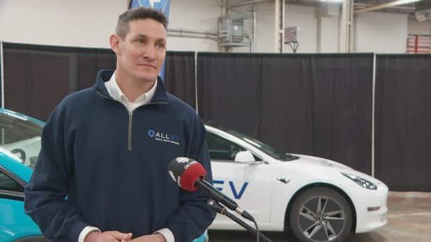 Jeff Farwell, CEO of All EV, an electric vehicle distributor in the region, says his company carries all brands of electric vehicles, including Teslas.