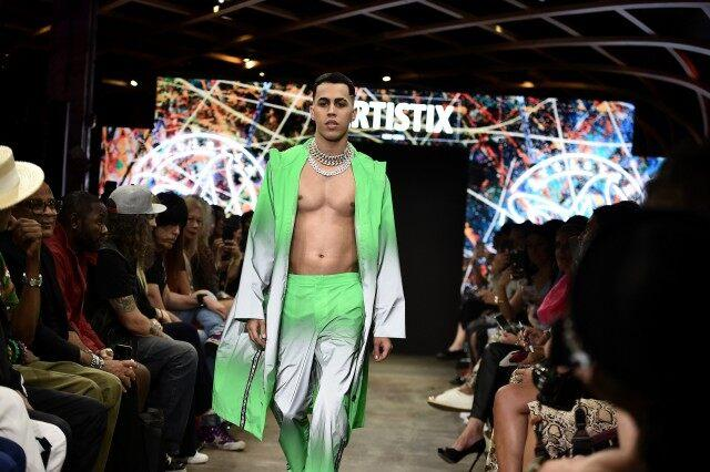 Brytiago walks the runway for Artistix S/S20
