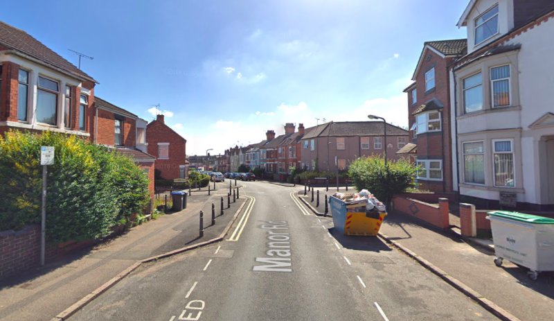 The attack took place in the middle of the day on Manor Road in Rugby (Google)