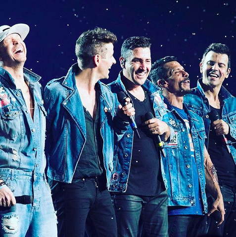 """<p>They've always had the right stuff. """"30 yrs ago: Critics called @nkotb 'transitional objects for immature fans,'"""" the singer captioned this shot with his bandmates. """"30 yrs later: Our fans are mature adults & we're still here."""" (Photo: <a href=""""https://www.instagram.com/p/BYC8CXkHGGn/?taken-by=donniewahlberg"""" rel=""""nofollow noopener"""" target=""""_blank"""" data-ylk=""""slk:Donnie Wahlberg via Instagram"""" class=""""link rapid-noclick-resp"""">Donnie Wahlberg via Instagram</a>)<br><br></p>"""