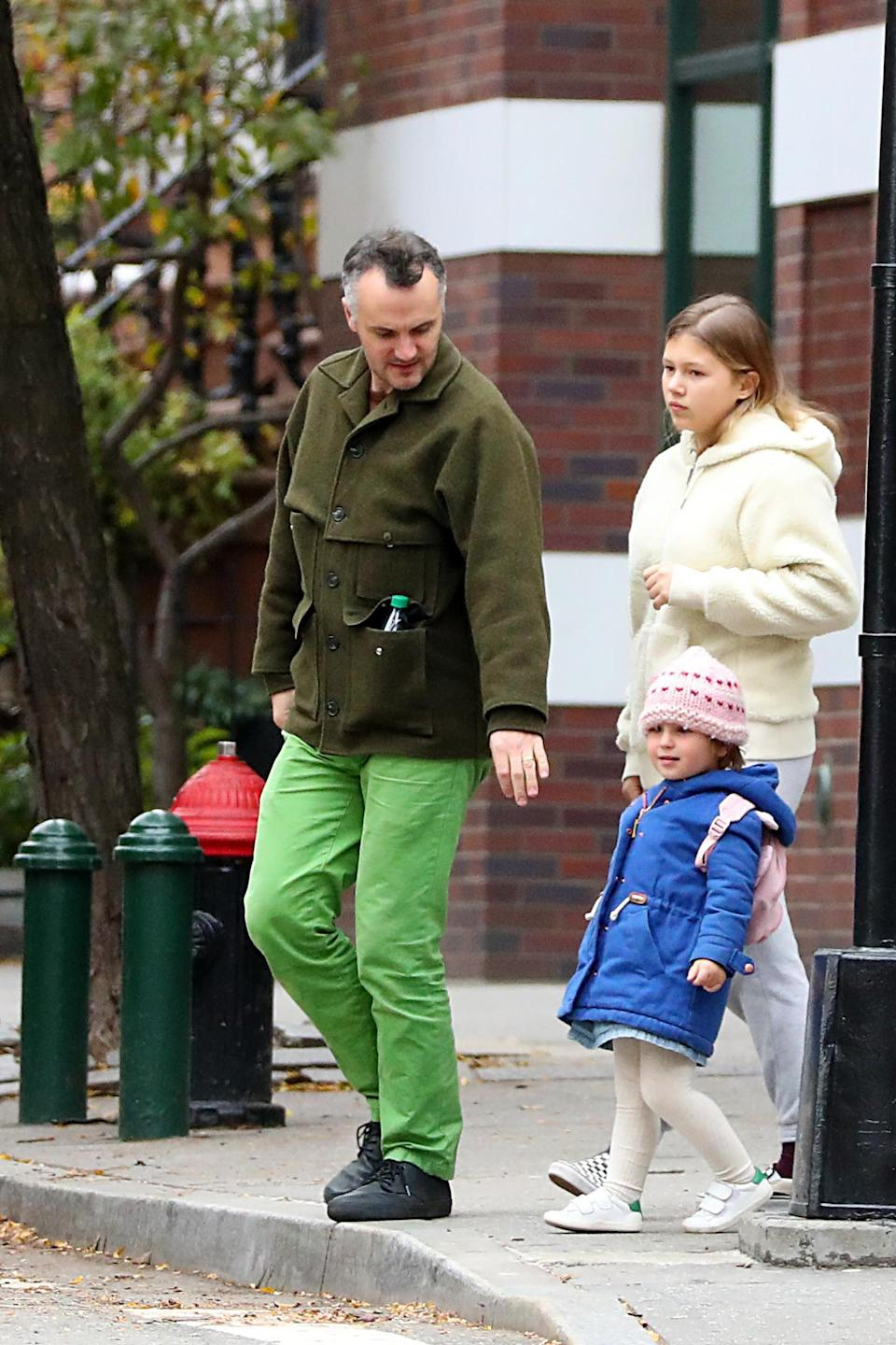 Michelle Williams and Heath Ledger's daughter Matilda Rose Ledger looks just like her Heath while spotted out with her new stepdad and stepsister. Source: MEGA