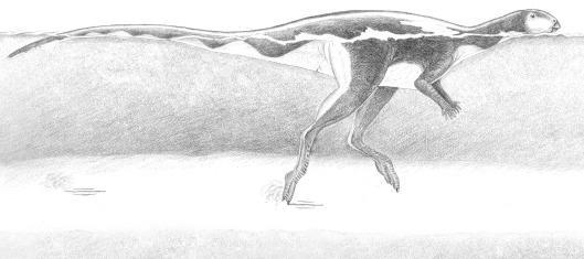 Some of the dinosaurs may have been wading on their tippy toes through the fast-flowing river