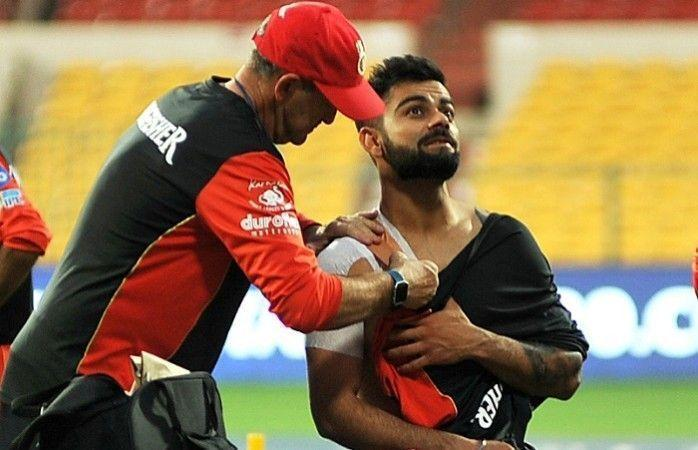 Kohli has played with injuries in the IPL