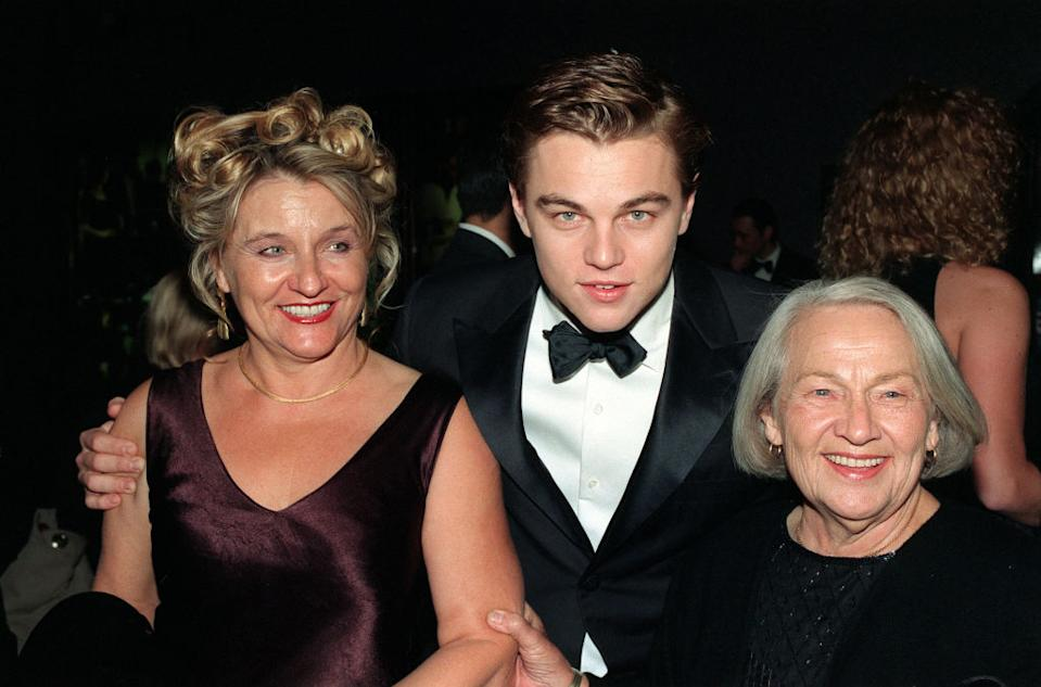 "Leonardo DiCaprio brought his mom, Irmelin Indenbirken, and his late grandmother, Helena Indenbirken, to the London premiere of ""Titanic."" (Photo: PA Images via Getty Images)"